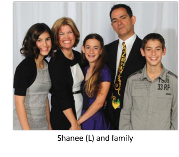 Shanee with family