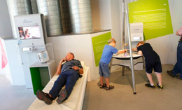 All you have to do is lie down to be monitored by EarlySense for temp, movement and breathing.