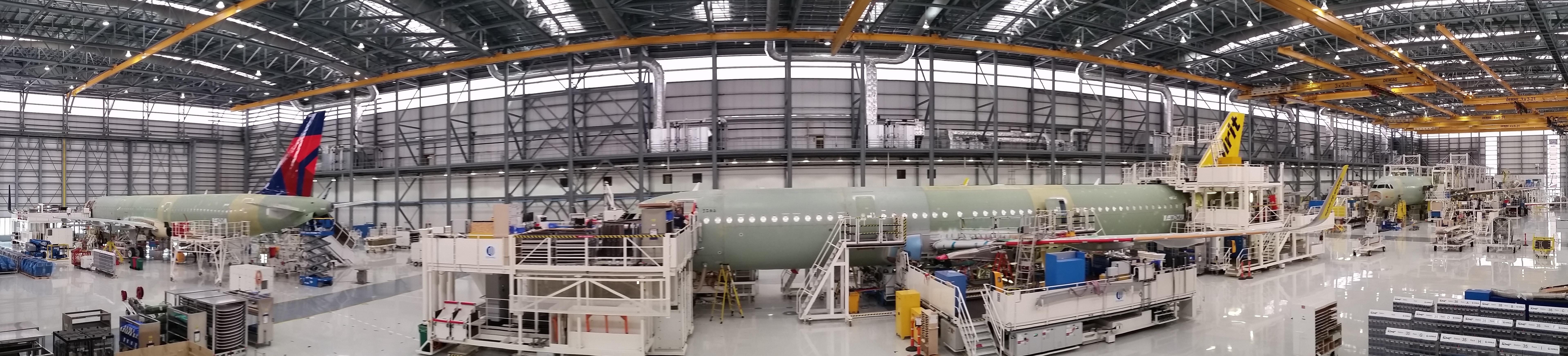 Resultado de la imagen para la línea de ensamblaje Airbus A320