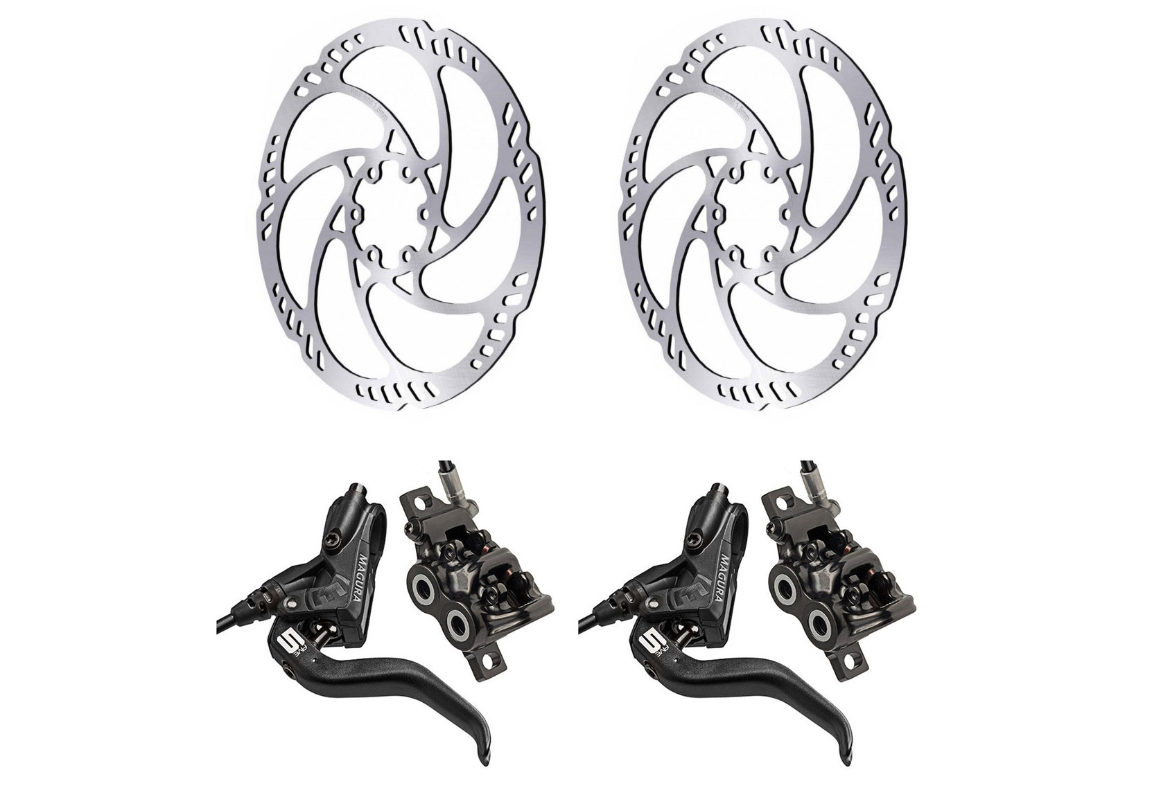 Magura Front Rear Mt5 Disc Brake Magura Storm Hc Rotor 180mm