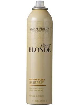 John Frieda Sheer Blonde Crystal Clear Hairspray Review