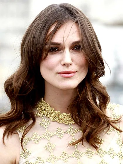 Hairstyles For Round Face Women Mid Length Layers With Side Part