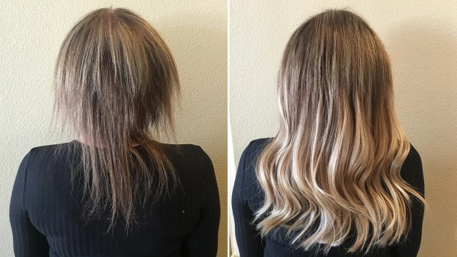 the shocking hair extensions before and after you have to
