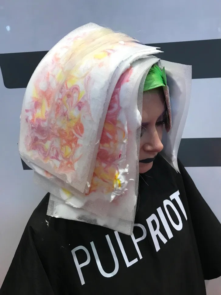 The Hair Marbling Technique Is Like Tie Dye For Your Hair