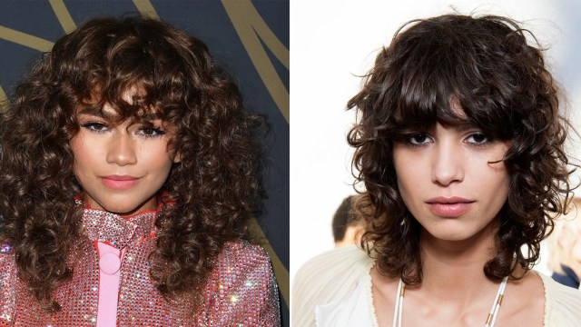 tips for great bangs with curly hair   allure