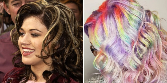 colorist's chunky rainbow highlights are inspired by kelly