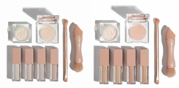 The powders, concealers, and brushes from KKW Beauty Concealer Kits