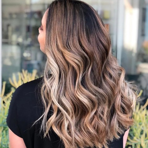 Best New Hair Color Trends of 2018   Allure Iced Caramel Latte Hair