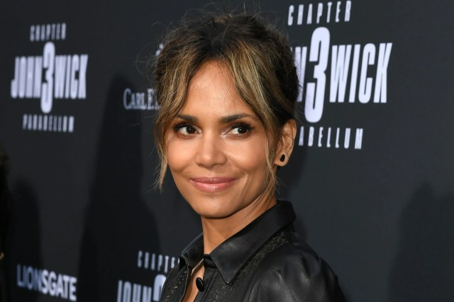 halle berry debuts undercut hairstyle with wave design | allure