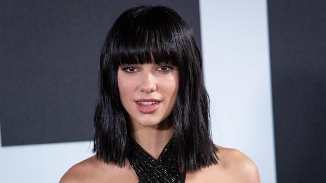 dua lipa reveals two-tone hair color — photos | allure