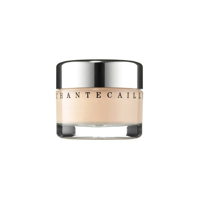 A jar of Chantecaille Future Skin Foundation on white background