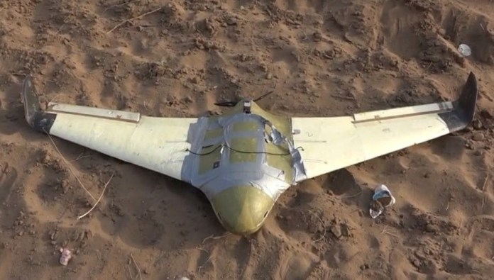 The spokesman for the coalition forces: A drone launched from Yemen towards (Archive) was intercepted and destroyed
