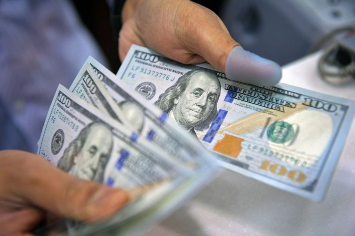 The US currency is hovering near its lowest level in seven weeks.