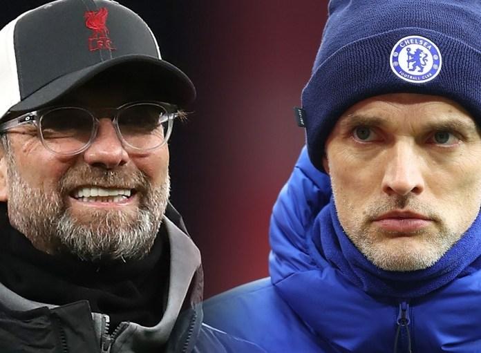 Thomas Tuchel, Chelsea coach, Jurgen Klopp, Liverpool coach