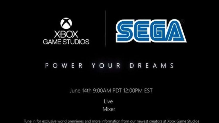 leaked image showing xbox game studios and sega logo