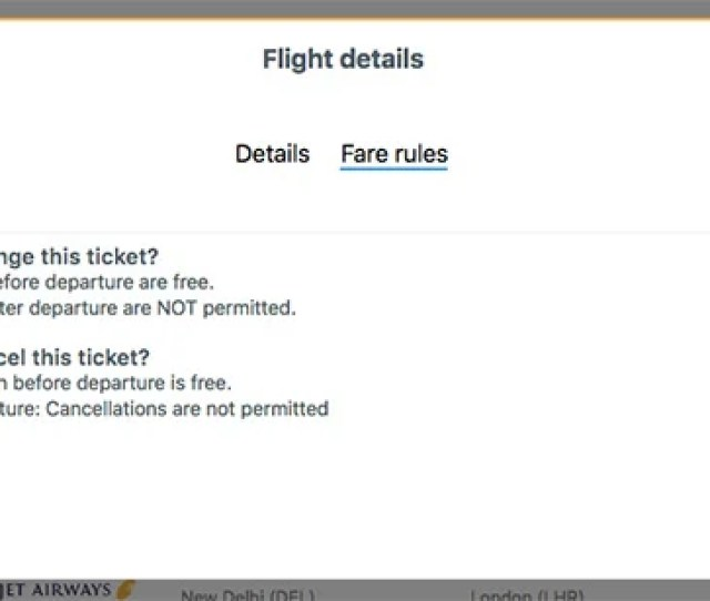 Free Changes To Flights Pop Up