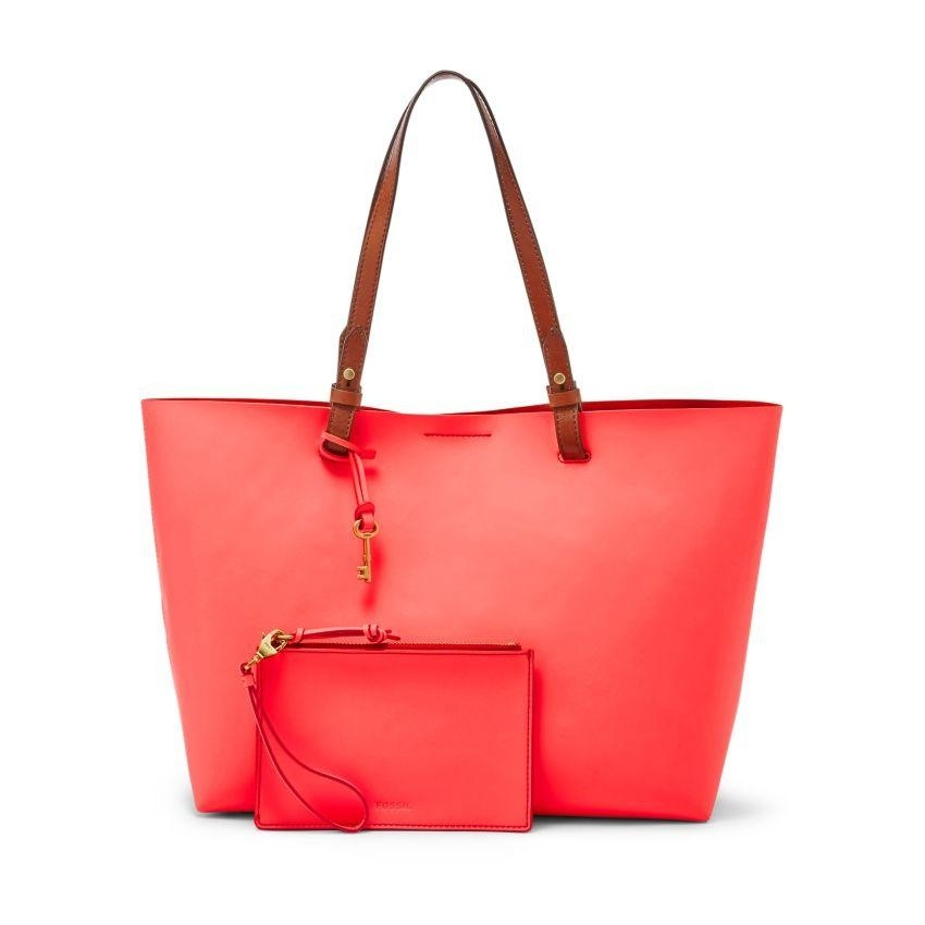 This Sleek Cleanly Styled Tote Is No Burden At All As You Sling Your Barangs To Christmas Cocktail Parties The Brightly Hued Leather Adds A Little Je