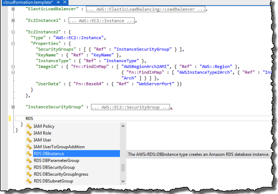 AWS CloudFormation Template Editors For Visual Studio And Eclipse AWS News Blog