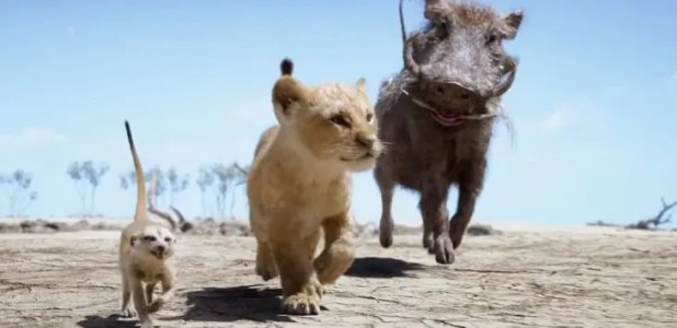 <p>Timón, Simba y Pumba (Fuente: Disney).</p>