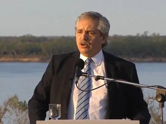 Alberto: Ha llegado la hora que la Argentina crezca con otra lógica | Alberto Fernández, Santa Fe, Hidrovía, Kicillof