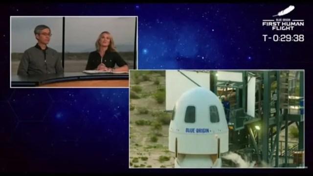El viaje al espacio de Jeff Bezos se prepara para despegar