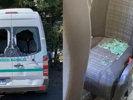 Así quedó la camioneta que trasladaba a Alberto Fernández