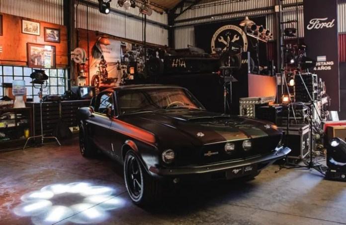 El Mustang Shelby GT500 King of the Road fue la estrella del festejo.