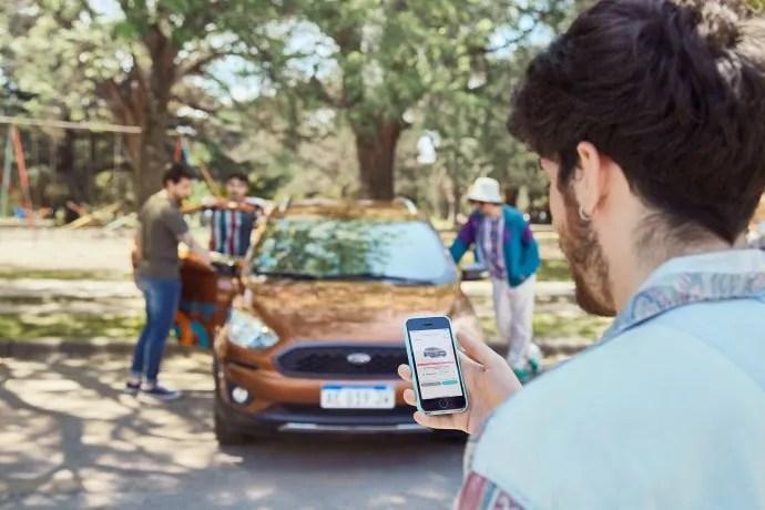 Desde 2019, Ford Argentina se unió con MyKeego para crear una alternativa que permite alquilar vehículos por minutos, horas o días.