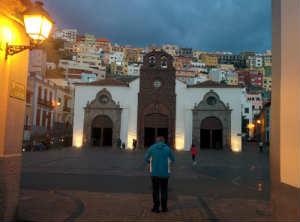 San Sebastian de la Gomera i skymningen