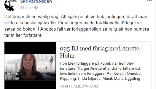 Anette Holm har besökt Skrivarpodden