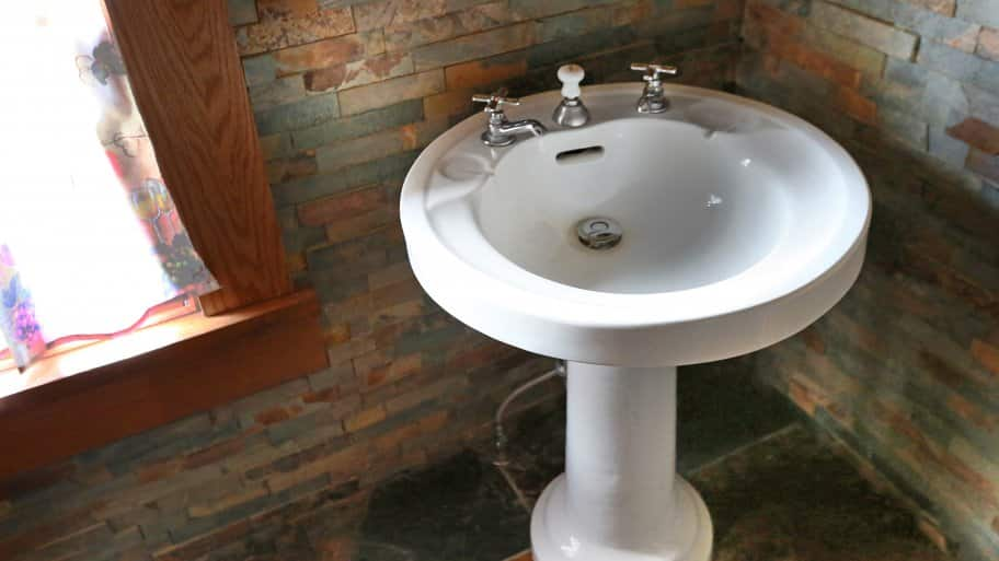 how to install a pedestal sink angi