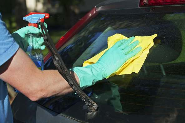 Image result for Cleaning Your Windshield With A Microfiber Cloth