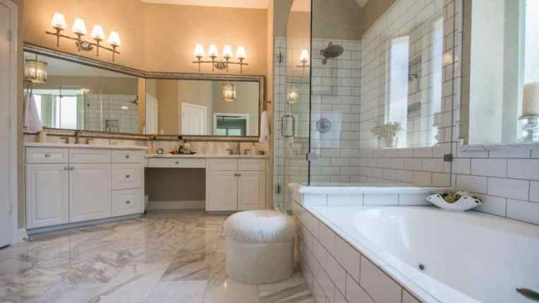 Hire a Tile Contractor for Bathroom Remodels   Angie s List remodeled bathroom with new tiles
