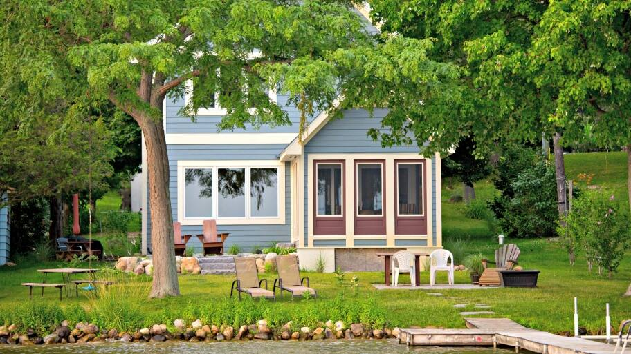 What are the Challenges of Landscaping a Lakefront Home ... on Lakefront Patio Ideas id=55452