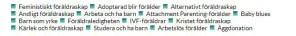 """Snackgrupperna i kategorin """"Föräldraskap"""". Skärmbild från AFF:s arkiv."""