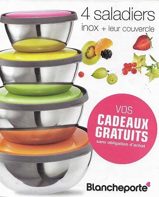 4 saladiers inox offerts