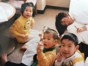 4人兄妹の写真