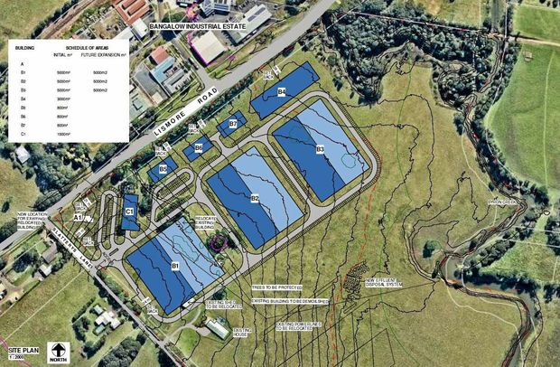 BANGALOW: The proposed agri-business site on Lismore Road Bangalow.