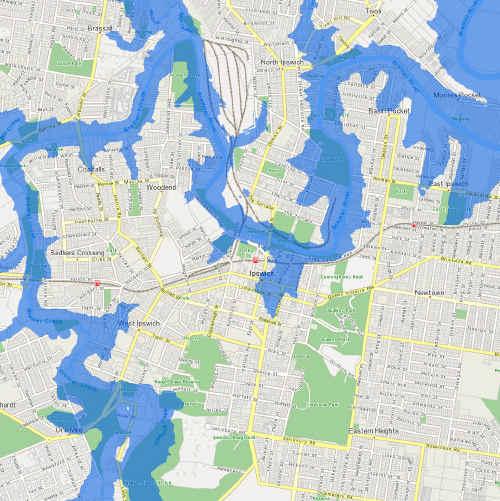 Brisbane Flood Map
