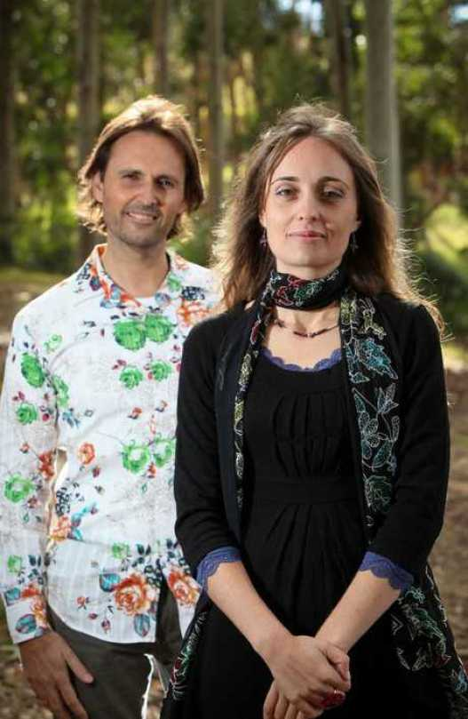 Jesus and Mary Magdalene, Kingaroy software engineer Alan John Miller, with his wife Mary, who claims the world could end soon. Picture: Simon Dallinger