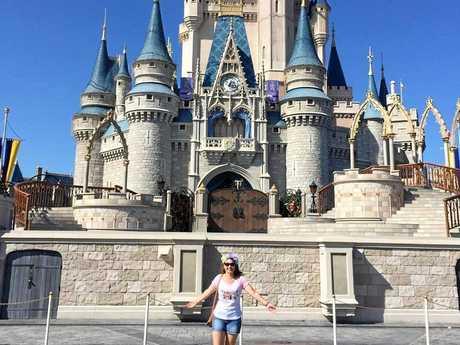 Sally-Anne Smith enjoys the fun of Disney World.
