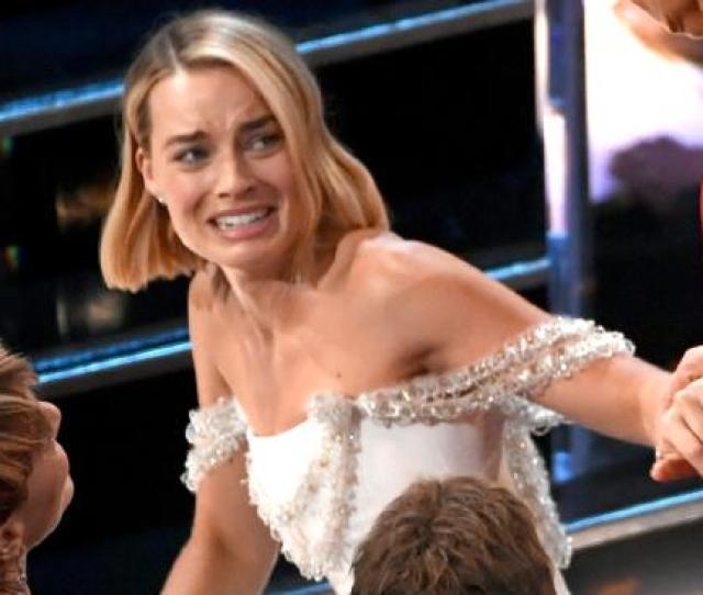 Margot Robbies Wardrobe Malfunction