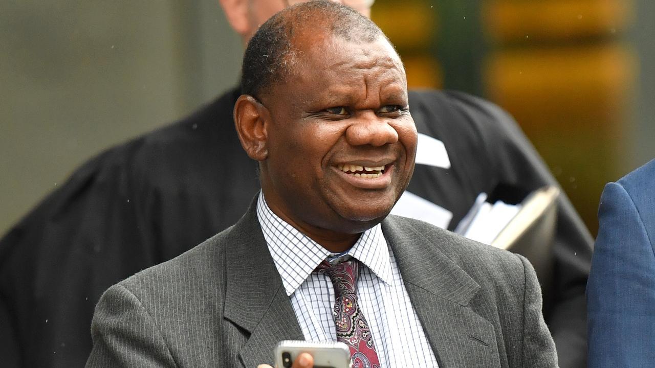 Tony Mufutau Oluwatoyin Bakare outside Brisbane District Court in February this year. Picture: Darren England