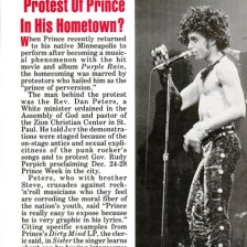 Prince - What's Behind Protest Of Prince In His Hometown - Prince - What's Behind Protest Of Prince In His Hometown - Jet 01/21/1985 - Page 1 (prince.org)