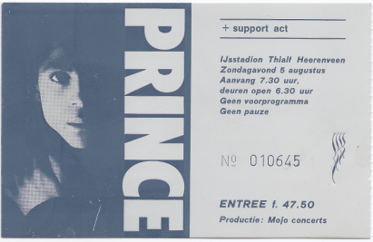 Prince 08/05/1990 concert ticket (apoplife.nl)