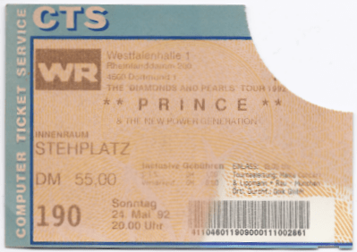 Prince & The NPG 05/24/1992 concert ticket (apoplife.nl)