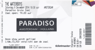 Waterboys 12/06/2014 concert ticket (apoplife.nl)