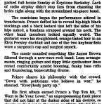 Prince - Dirty Mind tour review - San Fransisco Chronicle - 03/31/1981 (apoplife.nl)