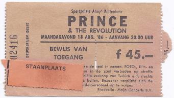 Prince & The Revolution 18-08-1986 concertkaartje (apoplife.nl)
