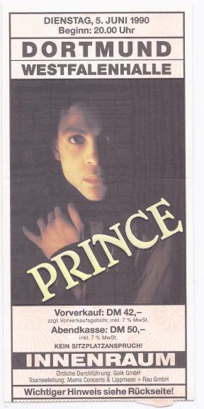 Prince 05-06-1990/06-08-1990 concertkaartje (apoplife.nl)